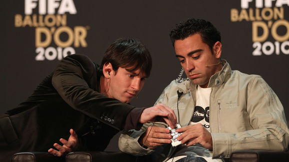 Lionel Messi,Xavi