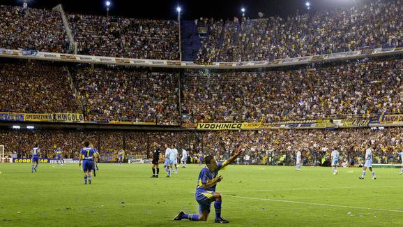 (FILE) Carlos Tevez, one of Boca Juniors