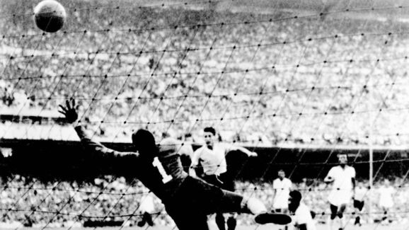 File photo taken 16 July 1950 at the Maracan stadi