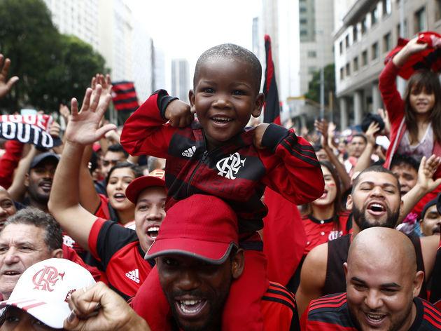 Flamengo Celebrates Winning the Copa CONMEBOL Libertadores 2019 Around Rio de Janeiro