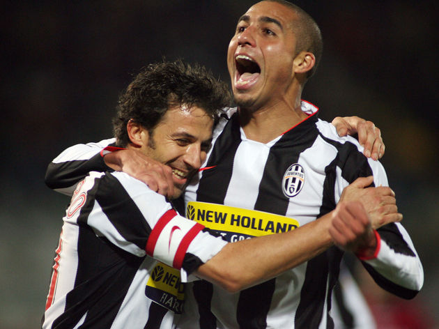 France's David Trezeguet of Juventus (R)