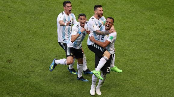 Gabriel Mercado,Lionel Messi,Angel Di Maria,Cristian Pavon
