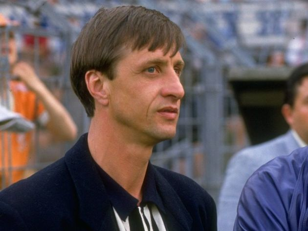 Franz Beckenbauer of West Germany and Johan Cruyff of Holland