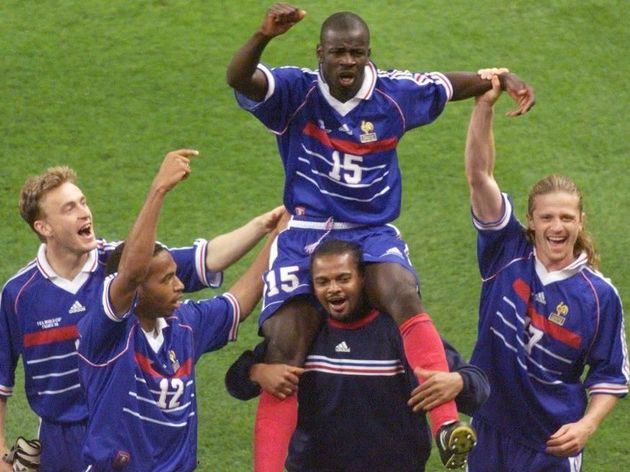 French defender Lilian Thuram , who scor
