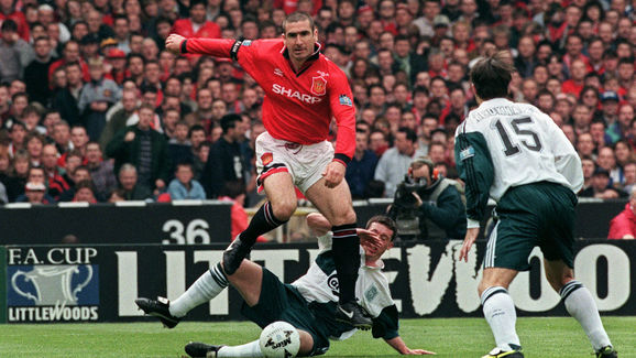 Frenchman Eric Cantona of Manchester Uni