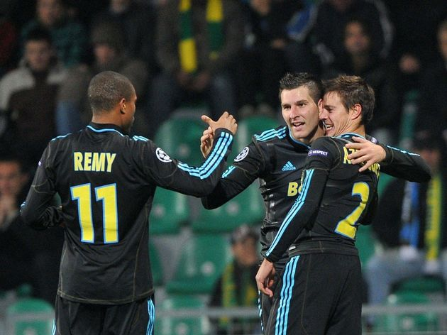 (From L) Olympique de Marseille's Loic R