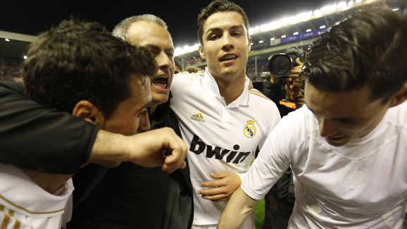 (FromL) Real Madrid's defender Alvaro Ar
