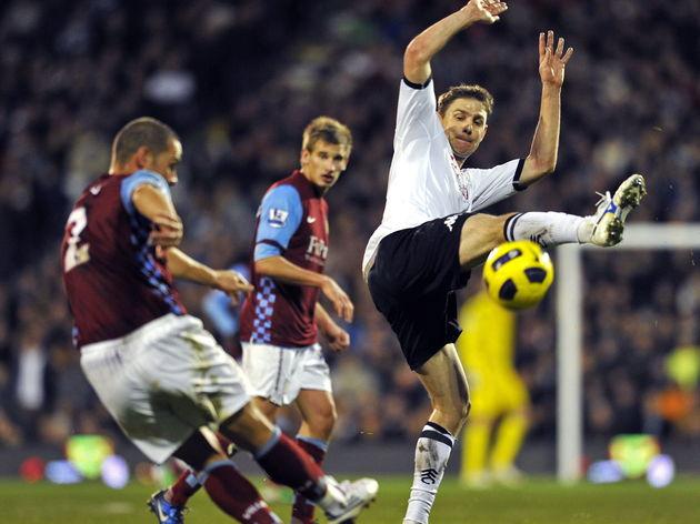 Fulham's Hungarian midfielder Zoltan Ger