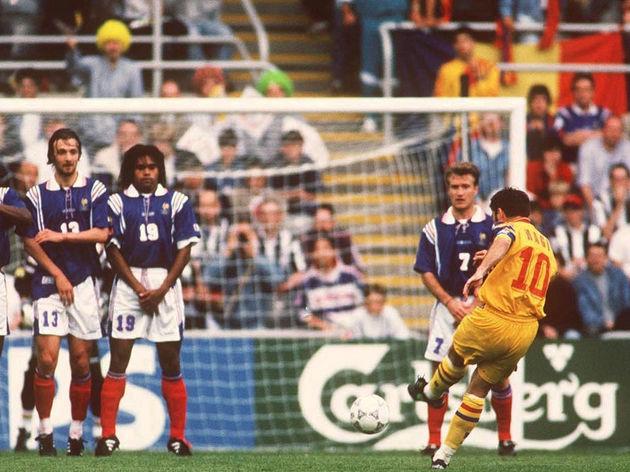 FUSSBALL: EURO 1996 ROM - FRA 0:1