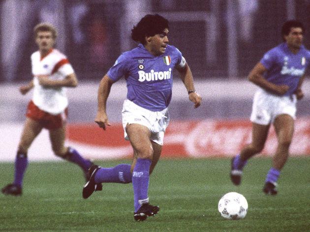 Fussball: Freundschaftsspiel 1987, HSV - SSC Neapel