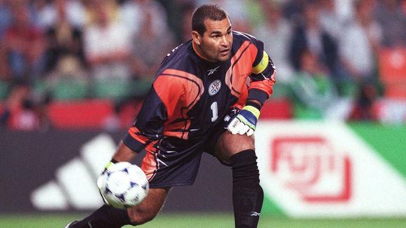 FUSSBALL: WM 1998 in FRANKREICH, ESP - PAR 0:0
