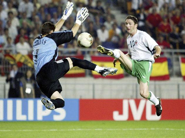 FUSSBALL: WM 2002 in JAPAN und KOREA, ESP - IRL 4:3 n.E.