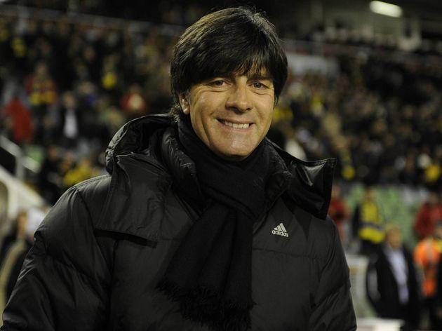 Germany's coach Joachim Loew smiles prio