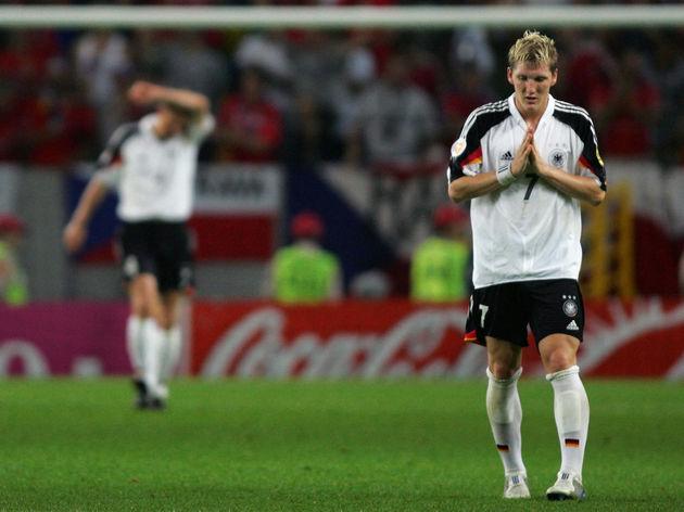 Germany's midfielder Bastian Schweisteig