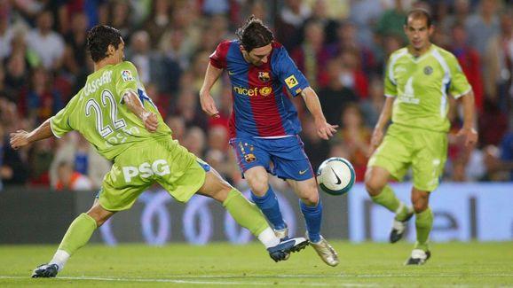 Leo Messi,Casquero