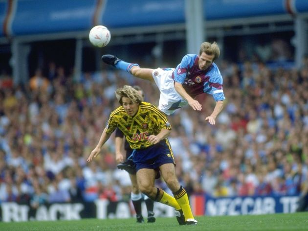 Gordan Cowans of Aston Villa and Paul Merson of Arsenal