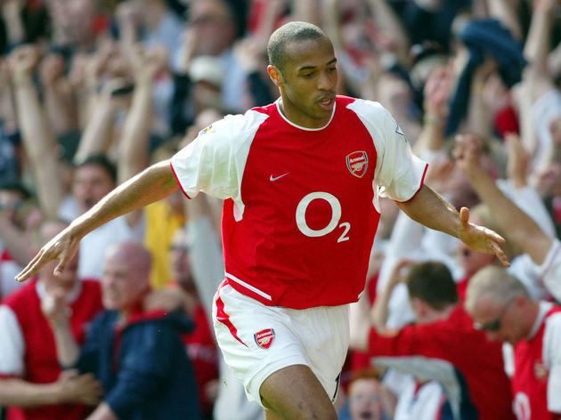 Henry celebrates scoring their first goal