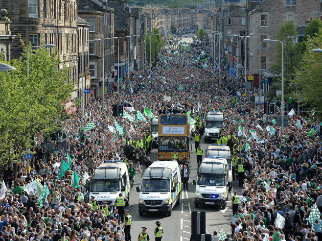 Hibernian Parade to celebrate winning William Hill Scottish Cup
