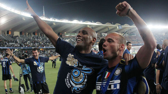 Inter Milan's Brazilian defender Maicon