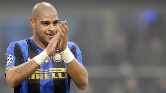 Inter Milan's Brazilian forward Adriano