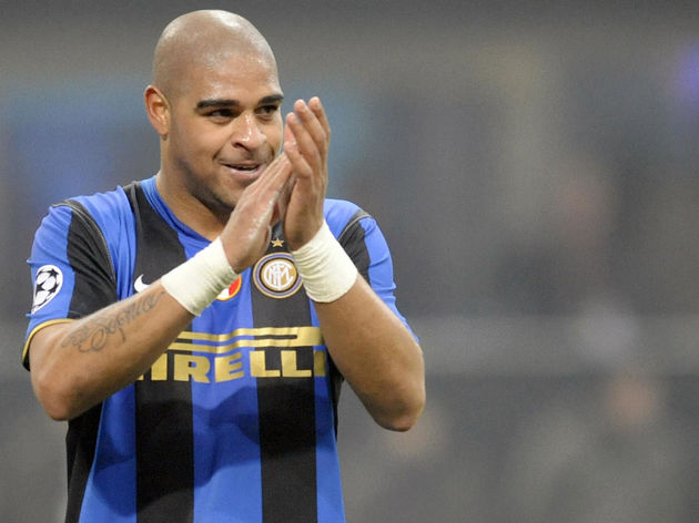 Inter Milan's Brazilian forward Adriano