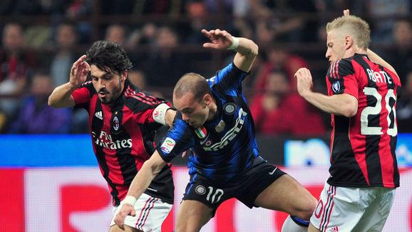 Inter Milan's Dutch midfielder Wesley Sn