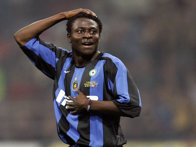 Inter Milan's forward Obafemi Martins ce
