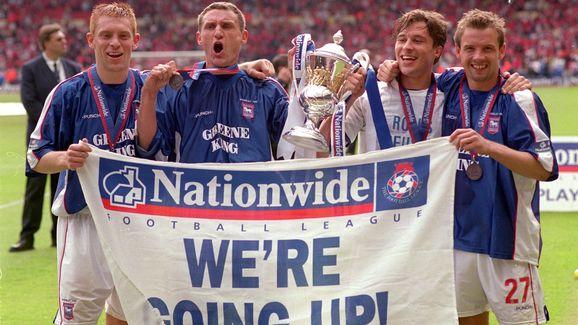 Ipswich players celebrate