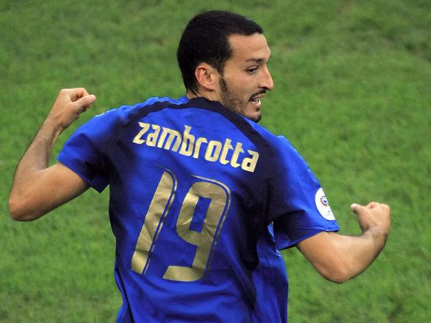 Italian defender Gianluca Zambrotta cele