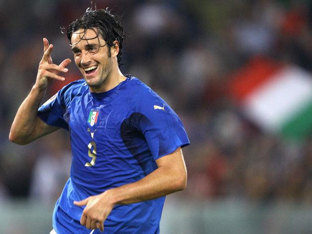 Italian forward Luca Toni celebrates aft