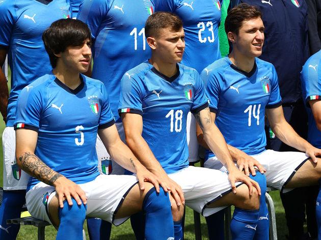 Sandro Tonali,Nicolo Barella,Federico Chiesa