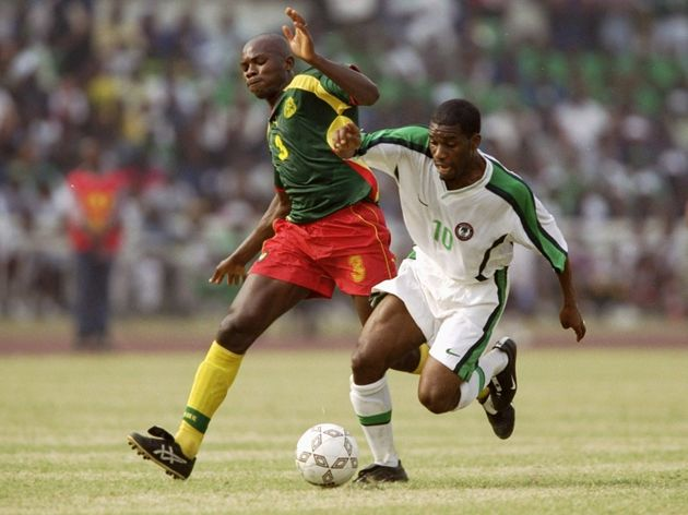 Jay Jay Okocha and Pierre Wome Nlend