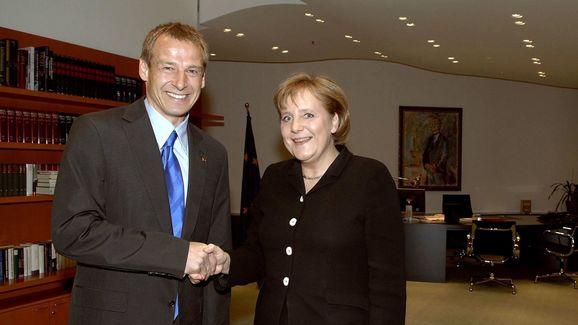 Juergen Klinsmann,Angela Merkel