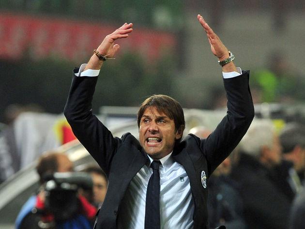 Juventus' coach Antonio Conte celebrates