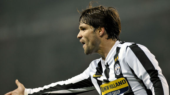 Juventus' player Diego reacts during the