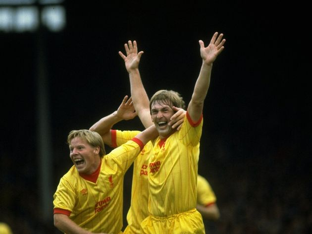 Kenny Dalglish and Sammy Lee of Liverpool