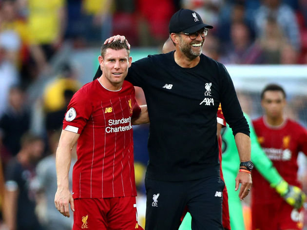 James Milner,Jurgen Klopp