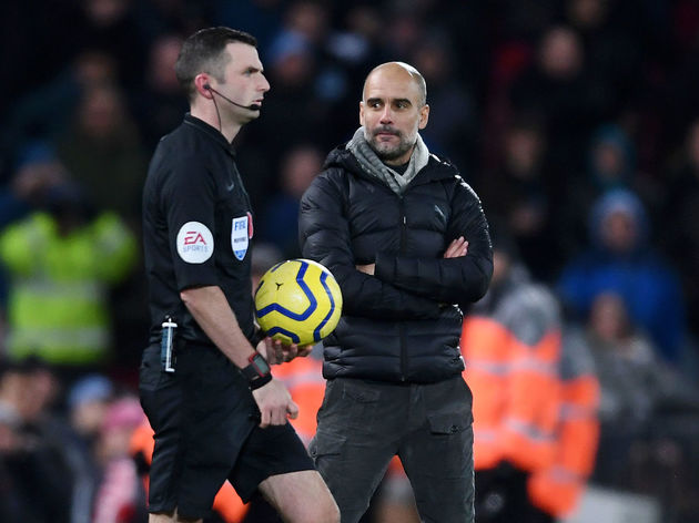 Pep Guardiola,Michael Oliver