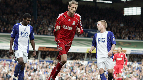 Liverpool's English forward Peter Crouch