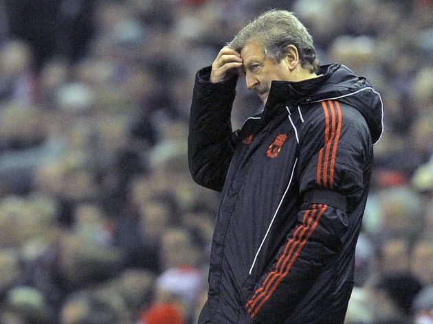 Liverpool 's English manager Roy Hodgson