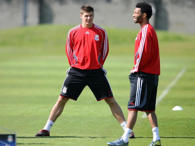 Liverpool's English midfielder Steven Ge...