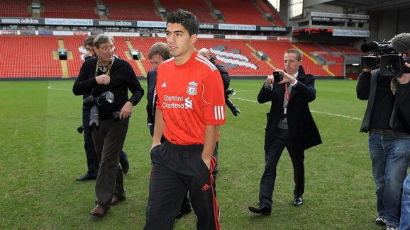 Liverpool's new signing Uruguayan strike