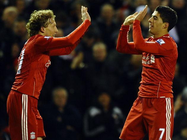 Liverpool's Urugyan forward Luis Suarez