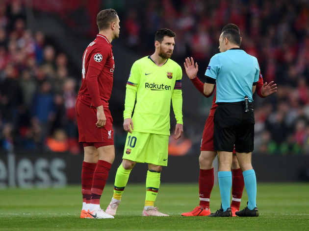 low priced d7547 1cc62 Jordan Henderson Discusses Facing Lionel Messi & Why He Didn ...