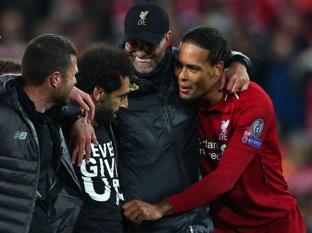 Jurgen Klopp,Mohamed Salah,Virgil van Dijk