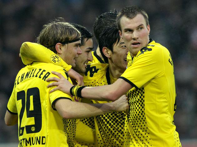 (LtoR) Dortmund's defender Marcel Schmel