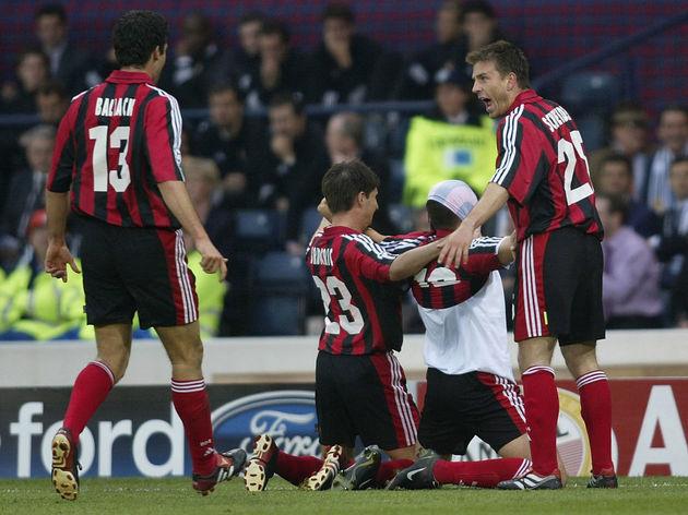 Lucio Celebrates first goal