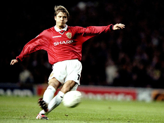 Man United v Juve David Beckham