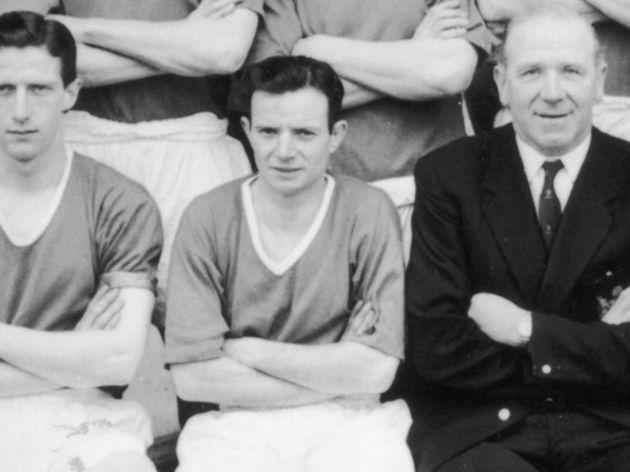 Bobby Charlton,Ray Wood,Bill Whelan,Mark Jones
