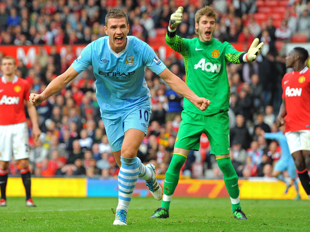 Manchester City's Bosnian striker Edin D